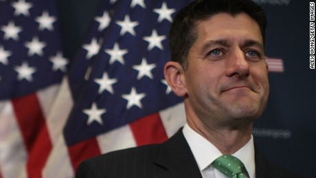 WASHINGTON, DC:  U.S. Speaker of the House Rep. Paul Ryan (R-WI) listens during a news briefing September 13, 2017 at the Capitol in Washington, DC. House Republican had a Conference meeting earlier to discuss GOP agenda.  (Alex Wong/Getty Images)
