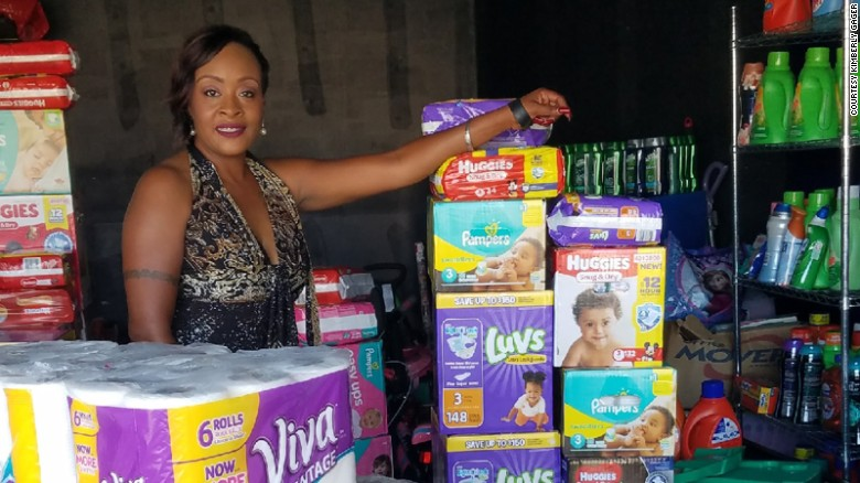 Woman uses couponing to help hurricane victims