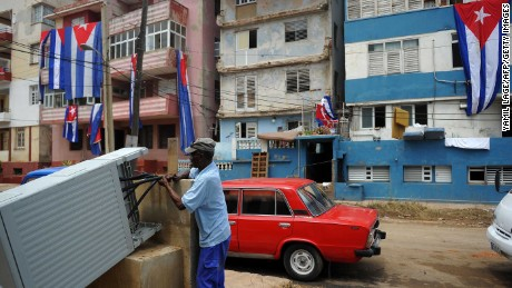 In Havana, Cuba, the cleanup effort has slowly begun.