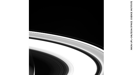 One of Cassini's final, unprocessed images of Saturn's rings, taken on September 13.