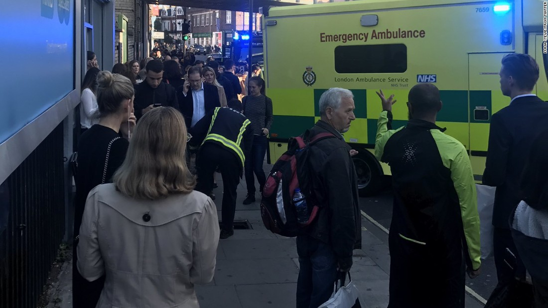 Manhunt after 'terror incident' on London Tube
