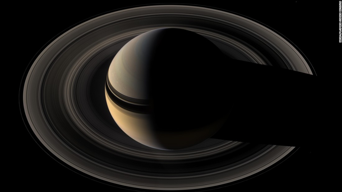 Saturn appears to sit in a nest of rings in this composite of 45 images Cassini took on May 9, 2007. The spacecraft was about  700,000 miles (1.1 million kilometers) from Saturn when the images were taken.