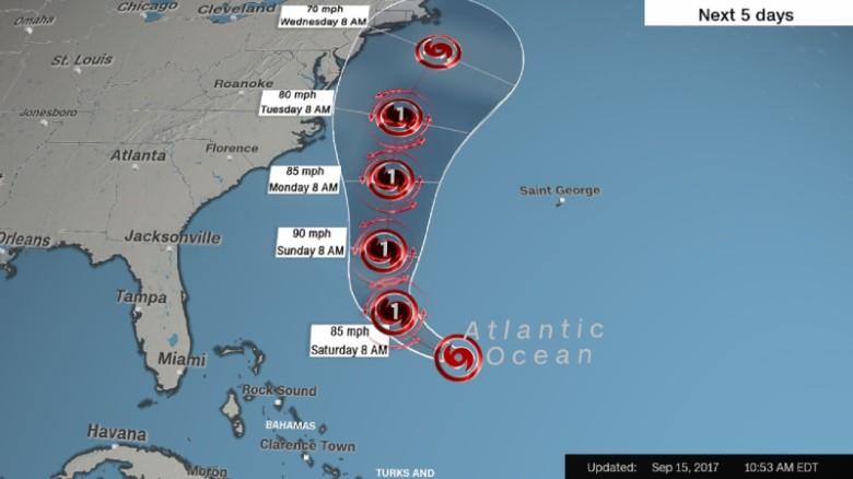 Hurricane Jose May Threaten Northeastern Us