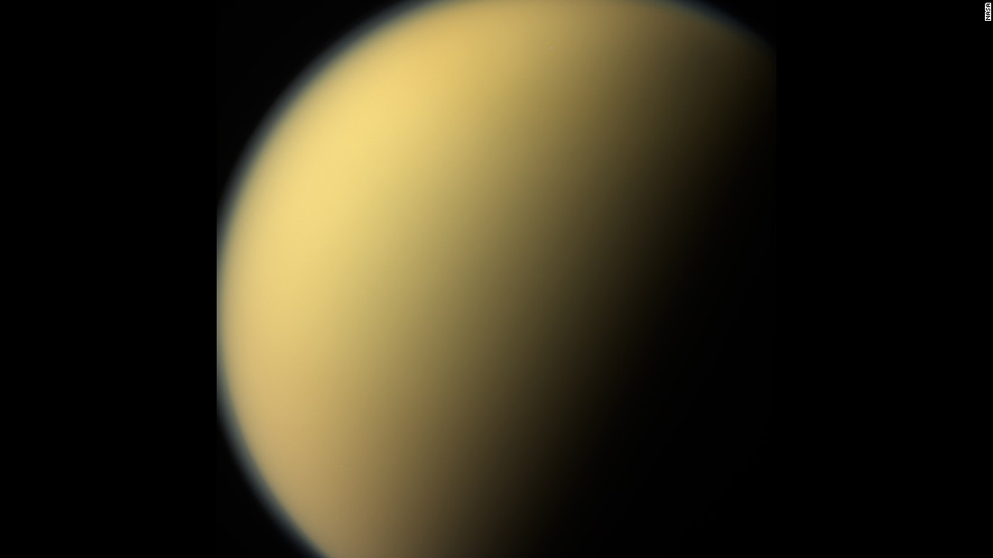 This image of Saturn's moon, Titan, was among the last obtained by Cassini's narrow-angle camera on September 13, 2017. The images were taken two days before Cassini plunged into Saturn's atmosphere.