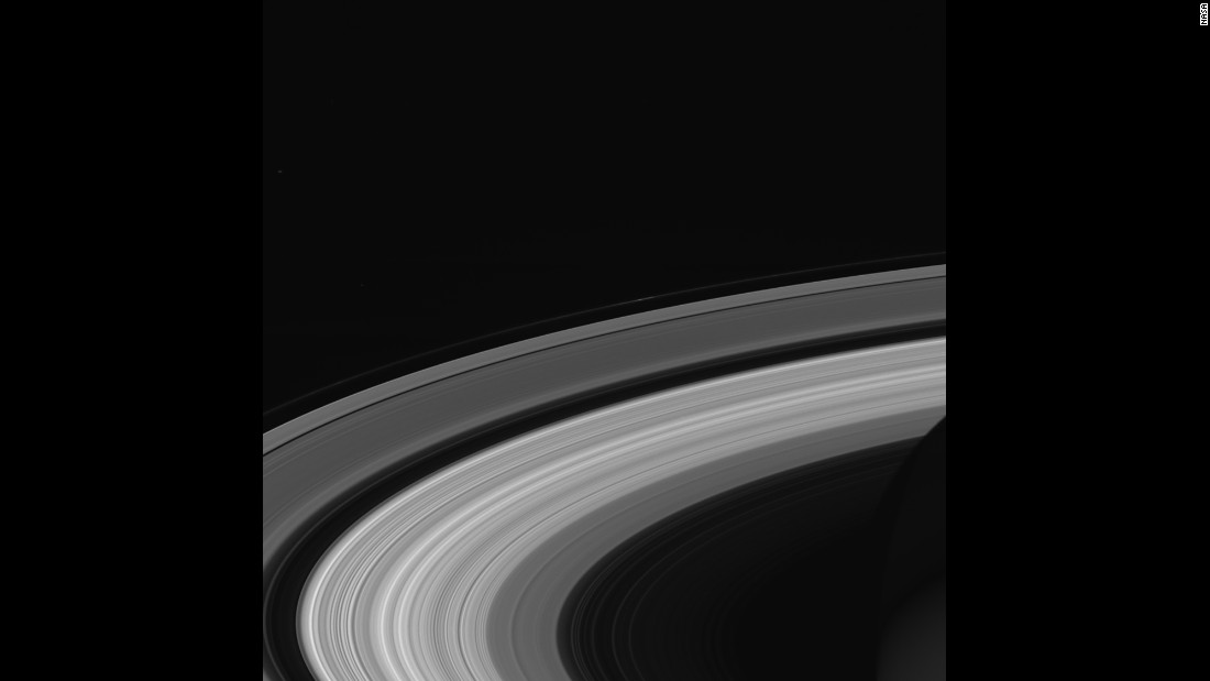 Cassini took this final image of Saturn's rings on September 13, 2017 while the spacecraft was 684,000 miles (1.1 million kilometers) away from the planet.