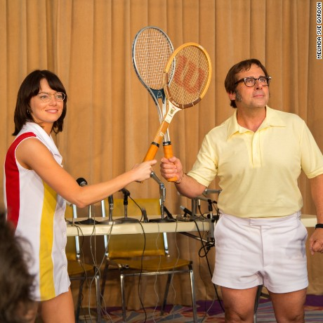 Emma Stone and Steve Carell in 'Battle of the Sexes'