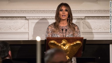 At Melania Trump garden event, echoes of Michelle Obama