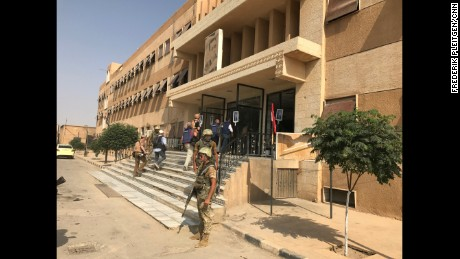 Gunfire can be heard from ISIS positions close to this hospital in Deir Ezzor.