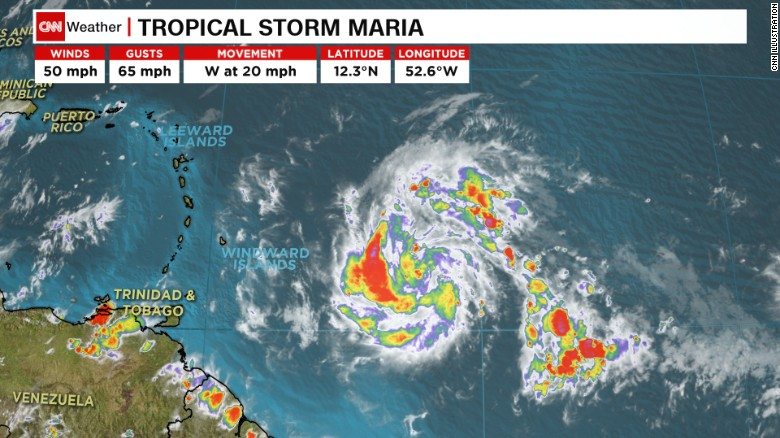 Tropical Storm Maria forms in Atlantic-Threatens Caribbean and U.S.