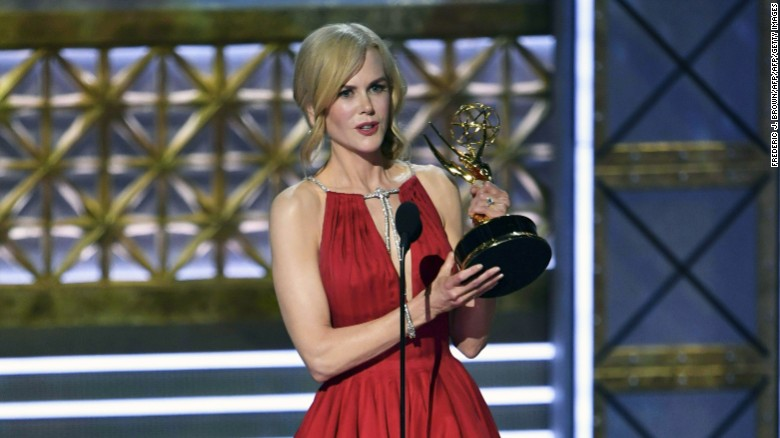 "Nicole Kidman accepts the award for outstanding lead actress in a limited series for ""Big Little Lies."""