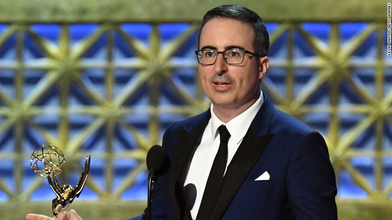 John Oliver onstage during the 69th Annual Primetime Emmy Awards