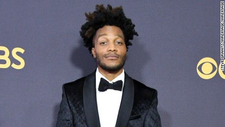 LOS ANGELES, CA - SEPTEMBER 17:  Actor and Emmys broadcast announcer Jermaine Fowler attends the 69th Annual Primetime Emmy Awards at Microsoft Theater on September 17, 2017 in Los Angeles, California.  (Photo by Steve Granitz/WireImage)