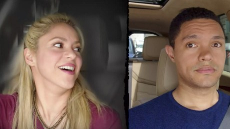 Shakira and Trevor Noah bond over rock music in the next 'Carpool Karaoke: The Series.'