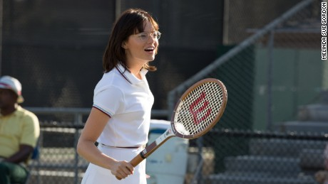 Emma Stone in a scene from 'Battle of the Sexes.'