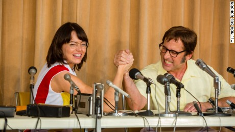 'Battle of the Sexes' retells the story of Billie Jean King's (Emma Stone) infamous tennis match against Bobby Riggs (Steve Carell).
