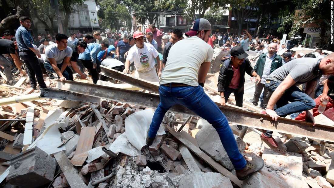 Central Mexico earthquake kills scores, topples buildings