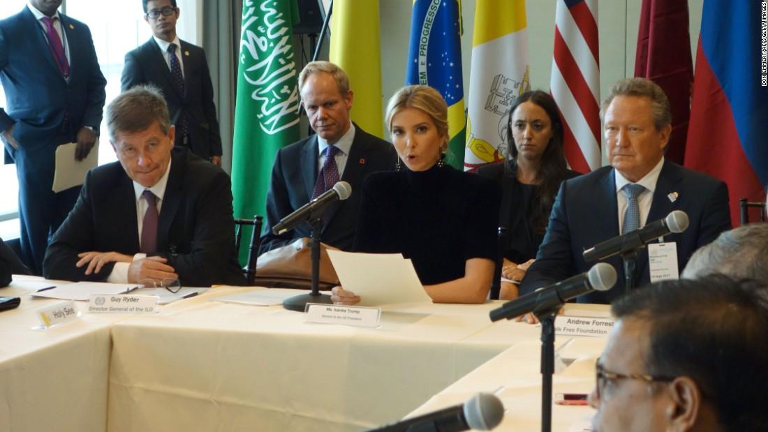 Ivanka Trump delivers anti-human trafficking speech at UN
