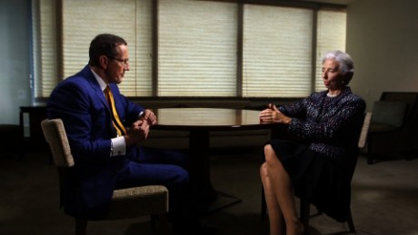 CNN's Richard Quest with IMF's Christine Lagarde