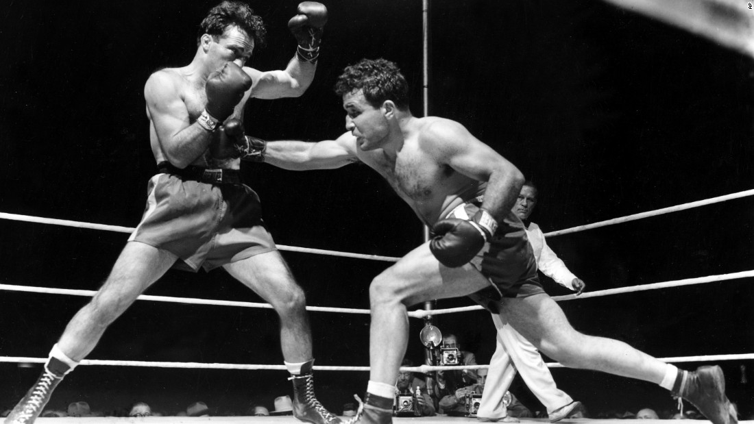 "<a href=""http://www.cnn.com/2017/09/20/sport/jake-lamotta-obit/index.html"" target=""_blank"">Jake LaMotta</a>, right, the former middleweight champion of the world, has died. He was 95. <br />LaMotta was played by Robert De Niro in Martin Scorsese's 1980 Oscar-winning movie ""Raging Bull."""