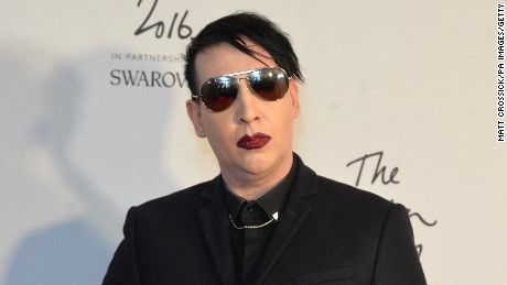 Marilyn Manson attending The Fashion Awards 2016 at the Royal Albert Hall, London. PRESS ASSOCIATION Photo. Picture date: Tuesday December 6th, 2016. Photo credit should read: Matt Crossick/PA Wire.  (Photo by Matt Crossick/PA Images via Getty Images)