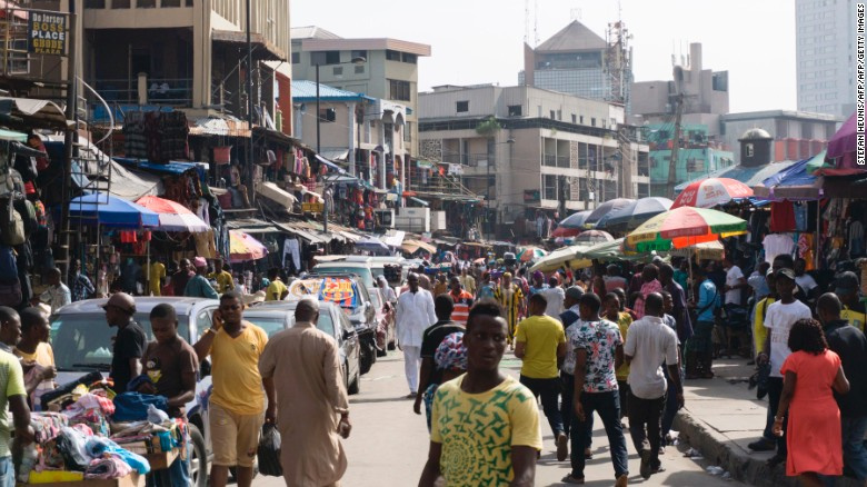 Much of the alcohol in Nigeria is sold informally through open air markets.
