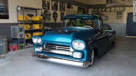 CNN Hero Aaron Valencia's Lost Angels Children's Project provides an after-school program with a focus on classic car restoration for low-income, foster and at-risk youth. Pictured is a Chevrolet restored by youth in the program.