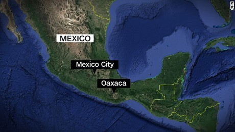 Oaxaca Mexico earthquake map