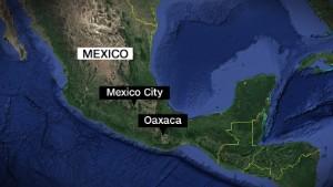 Oaxaca Mexico earthquake map