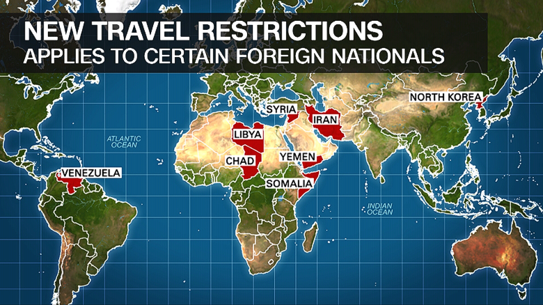 White House unveils new travel restrictions