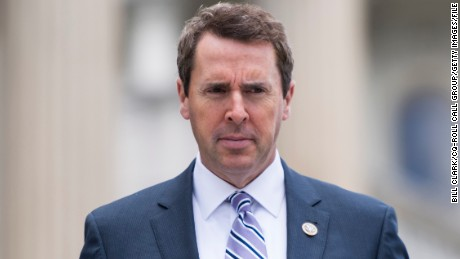 UNITED STATES - MAY 25: Rep. Mark Walker, R-N.C., walks down the House steps as he leaves the Capitol for the Memorial Day recess following the final votes of the week on Thursday, May 25, 2017. (Photo By Bill Clark/CQ Roll Call)