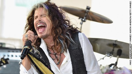 "NEW YORK, NY - JUNE 24:  Steven Tyler performs on NBC's ""Today"" at Rockefeller Plaza on June 24, 2016 in New York City.  (Photo by Mike Coppola/Getty Images)"