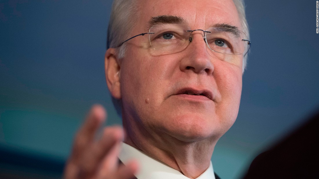Price out as HHS secretary after private plane scandal