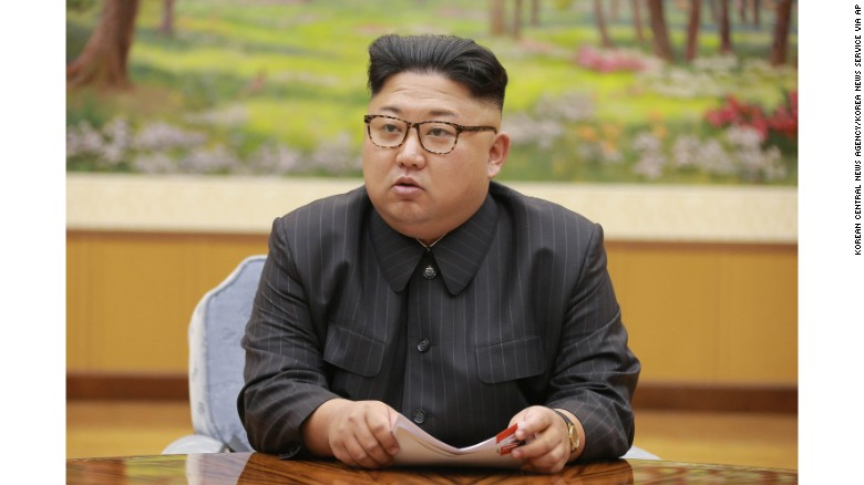 In this Sept. 3, 2017, image distributed on Monday, Sept. 4, 2017, by the North Korean government, North Korea's leader Kim Jong Un holds a meeting of the ruling party's presidium. North Korea claimed a
