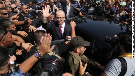 Palestinian Prime Minister Rami Hamdallah in Gaza.