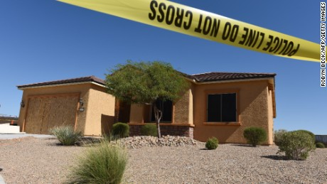Stephen Paddock's home in Mesquite, on October 3, after the Las Vegas massacre.