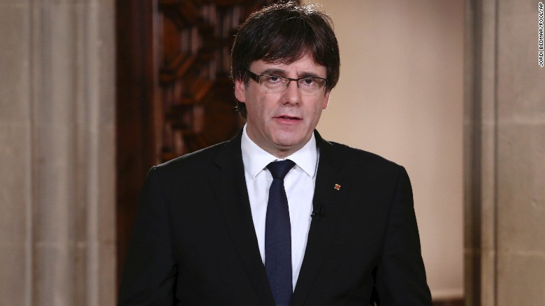 Catalonia's President Puigdemont to Speak in front of the Parliament