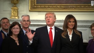 Trump at dinner with military commanders cites 'calm before the storm'