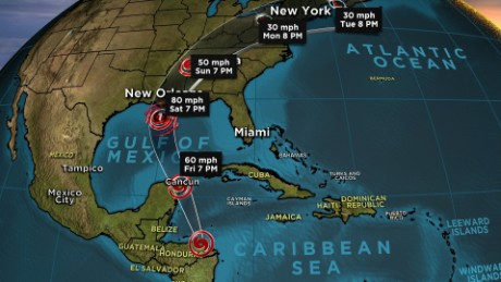 Hurricane Nate Expected to Be Category 2 at Landfall