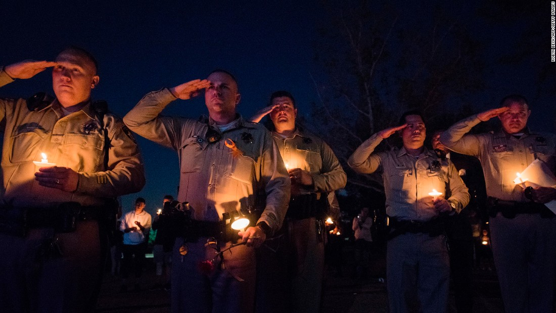 Fallen Las Vegas officer remembered as hero at vigil