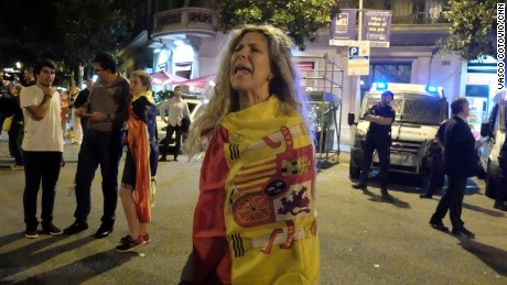 Susana Andrés says she is both Catalan and Spanish and doesn't want a fractured society.