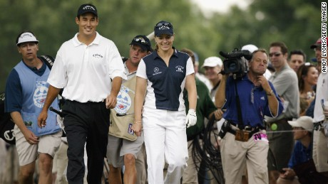 Sorenstam takes on the men at 2003 Bank of America Colonial.
