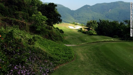 View of the 7th hole on Sorenstam's course in Shenzhen, China