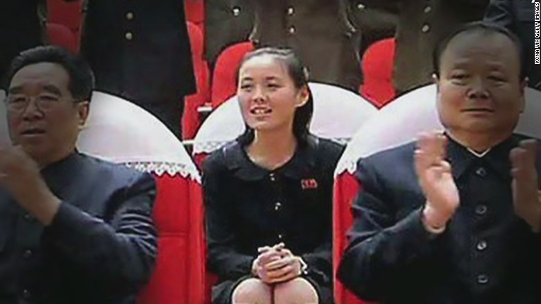 Kim Yo Jong, the youngest sister of North Korean leader Kim Jong Un, seen in March 2014.
