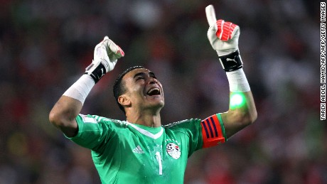 He made his international debut over two decades ago. Egypt's Essam El Hadary can finally celebrate qualifying for the FIFA World Cup