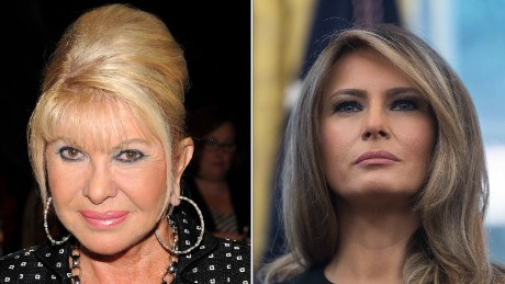 Ivana Trump right and first lady Melania Trump left