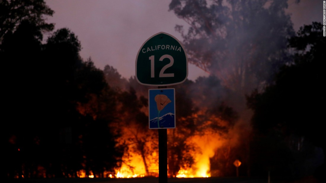 Wildfires claim at least 17 lives in Northern California