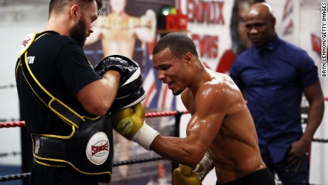 Eubank Jr. trains in Brighton in September 2017