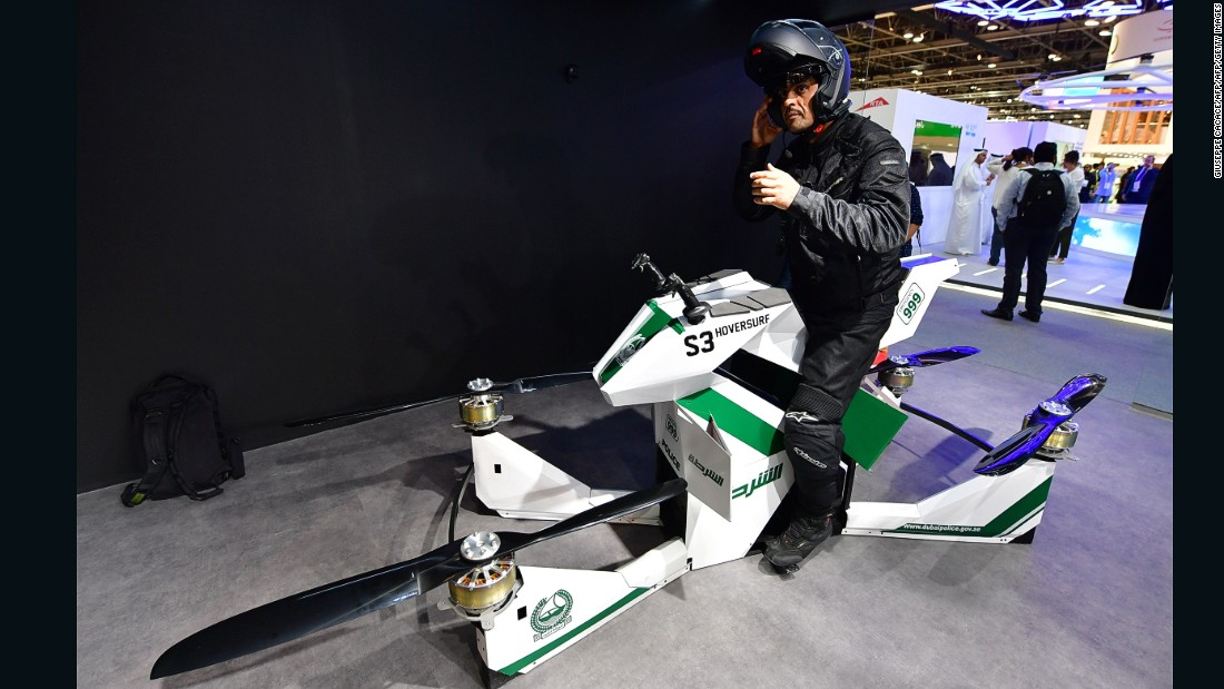 Dubai police adds flying motorbikes to list of smart gadgets