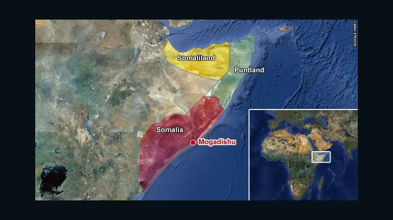 Somalia is divided into three regions, with its capital of Mogadishu.