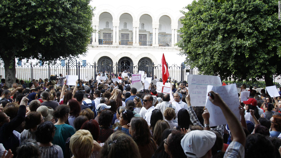 Rights group: Police rape woman in Tunisia, then charge ...